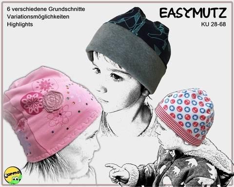EasyMutz KU 28-68 Sechs Grundschnitte, von enganliegenden Mutz bis hin zur BeanieMutz KÄSMUTZ bei Makerist