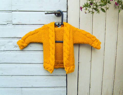 Baby Hooded Cardigan Cabled Zip Hoodie at Makerist
