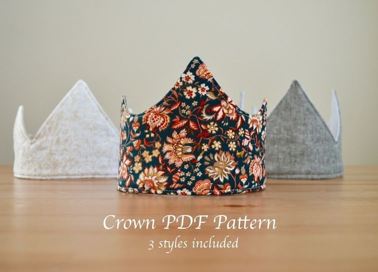 Fabric Crown Pattern! 3 Unique Styles at Makerist - Image 1