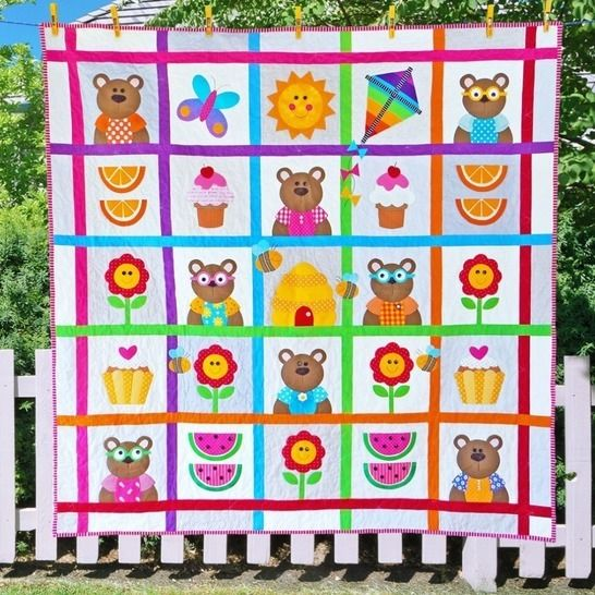 Teddy Bear's Picnic - Quilt Pattern at Makerist - Image 1