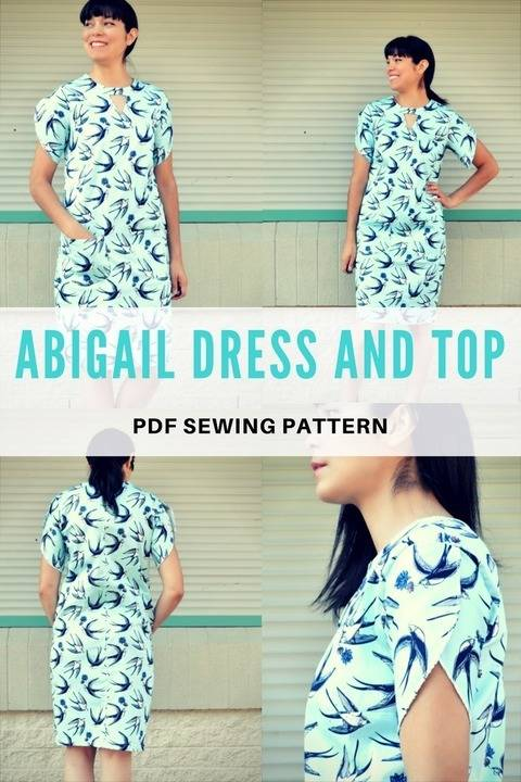 The Abigail Dress and Top PDF sewing pattern at Makerist