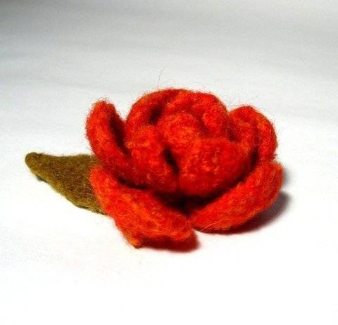 Felt Rose Flower at Makerist