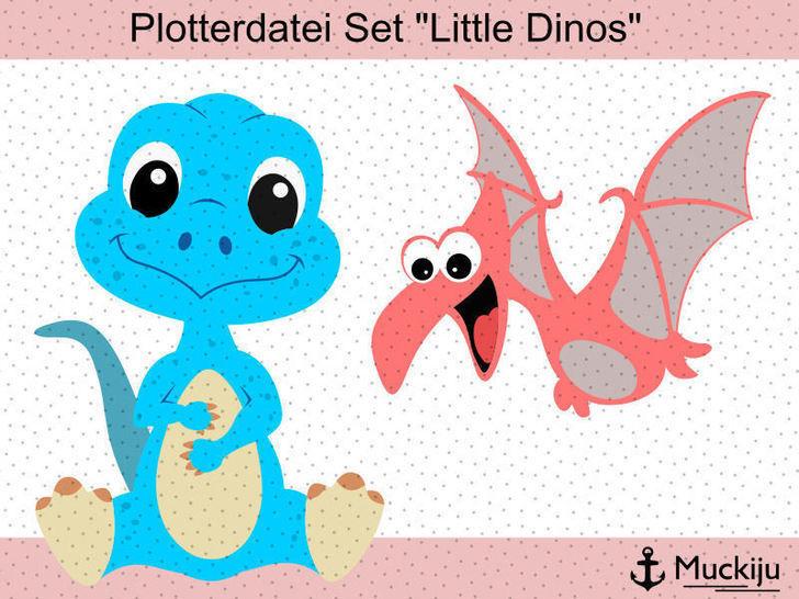 """Plotterdatei """"Little Dinos"""" bei Makerist - Bild 1"""