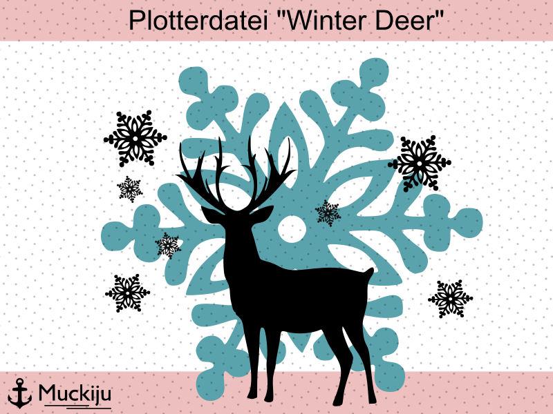 "Plotterdatei ""Winter Deer"""