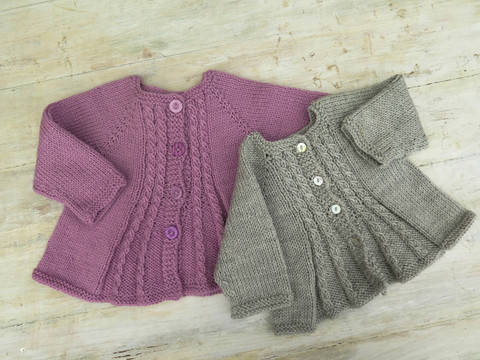Billy's Girl Flared Cardigan Knitting Pattern