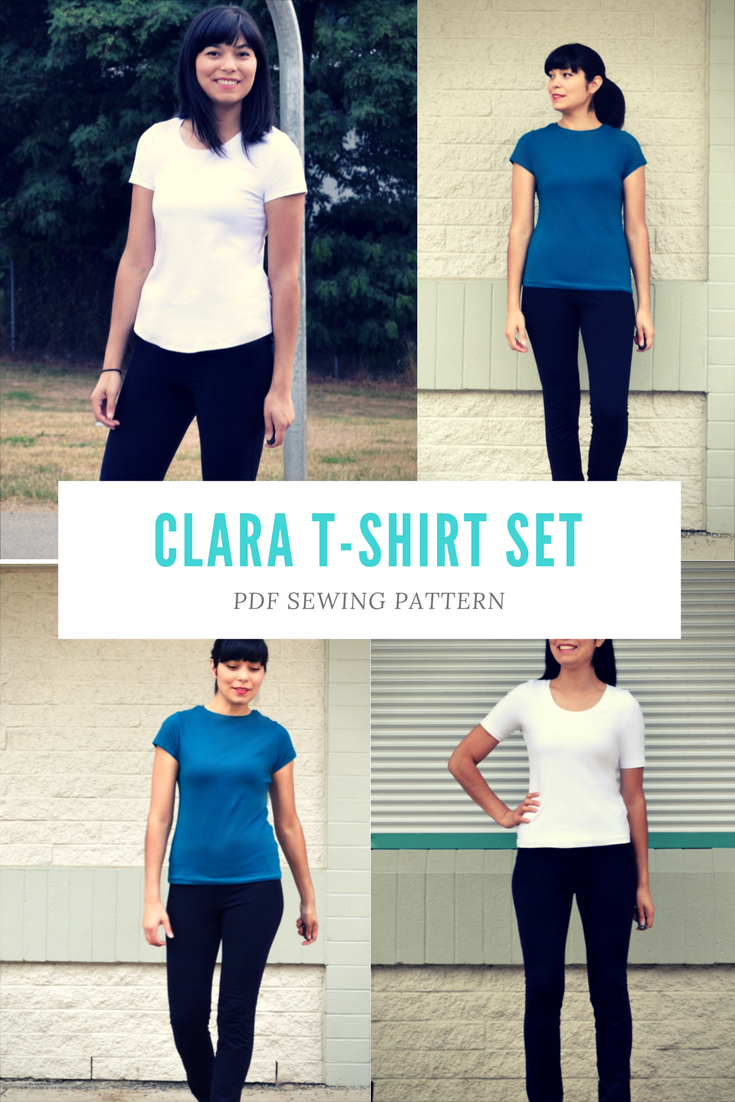 Clara T-shirt Set PDF sewing pattern