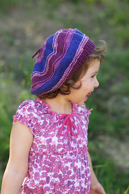 Corby striped beret - knitting pattern