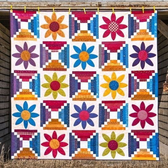 Desert Flowers - Quilt Pattern at Makerist - Image 1
