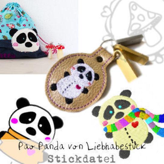Stickdatei Pao Panda, großes Set bei Makerist - Bild 1