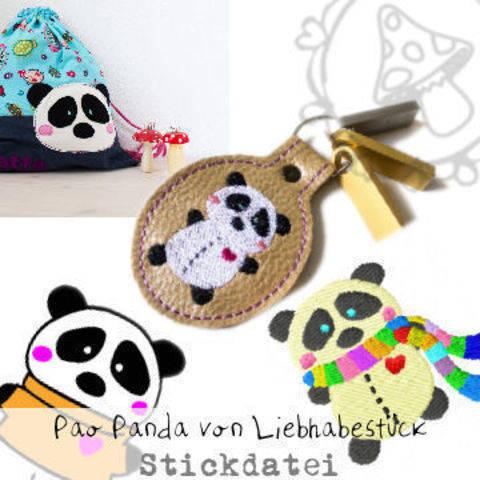 Stickdatei Pao Panda, großes Set