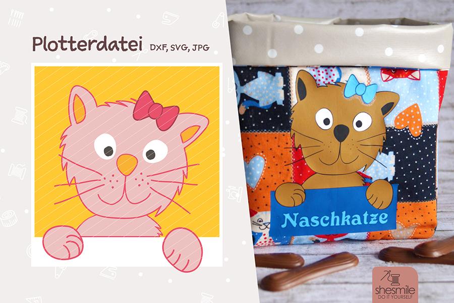 """Katze """"Kantenhocker Kitty"""" (Plotterdatei)"""