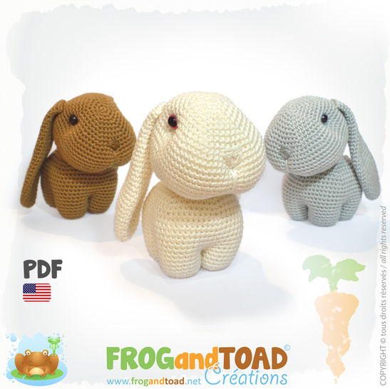Rabbit Happy, Hippy and Hoppy - Amigurumi Pattern American  at Makerist - Image 1