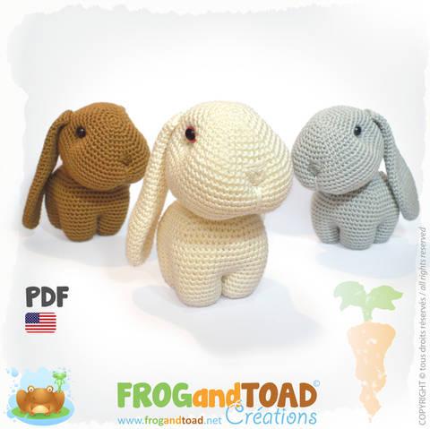 Rabbit Happy, Hippy and Hoppy - Amigurumi Pattern American