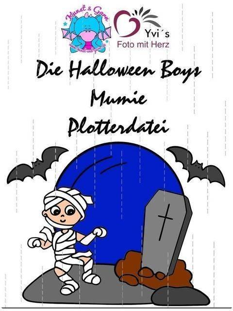 Plotterdatei HalloweenBoys Mumien