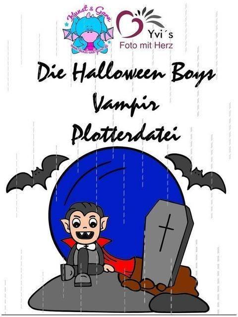 Plotterdatei HalloweenBoys Vampire