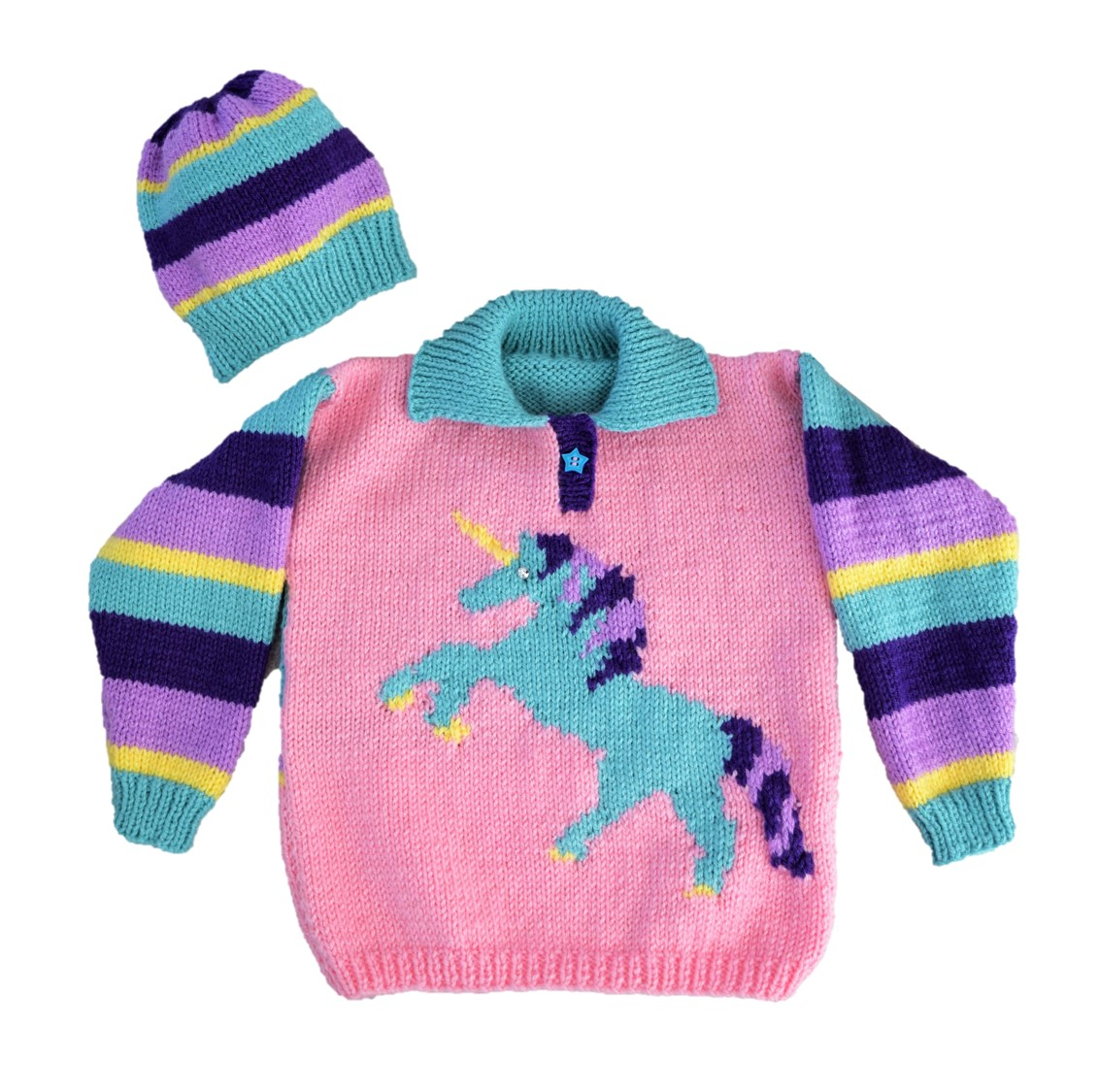 Unicorn Sweater and Hat