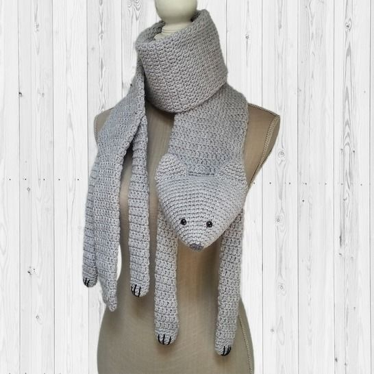 Crochet pattern scarf cat PDF at Makerist - Image 1