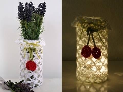 DIY Vase/Windlicht alle Größen Sommertraum Design No.4