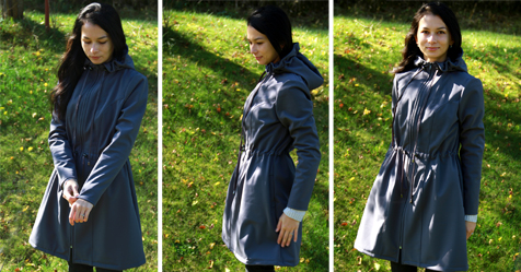 Ladies coat pattern with step-by-step tutorial
