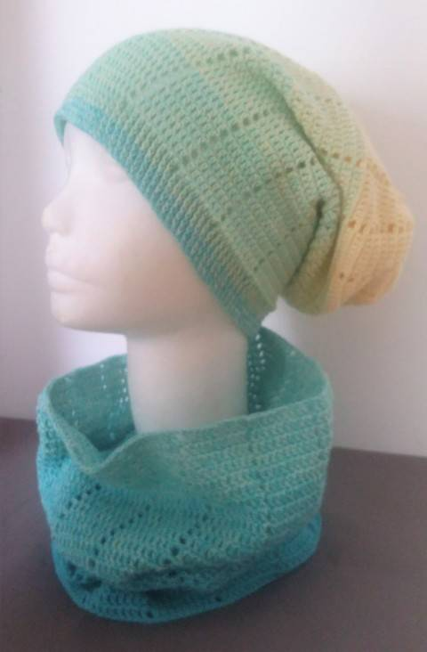 """Crochet Pattern Loop and Long Beanie """"Two in One"""" at Makerist"""