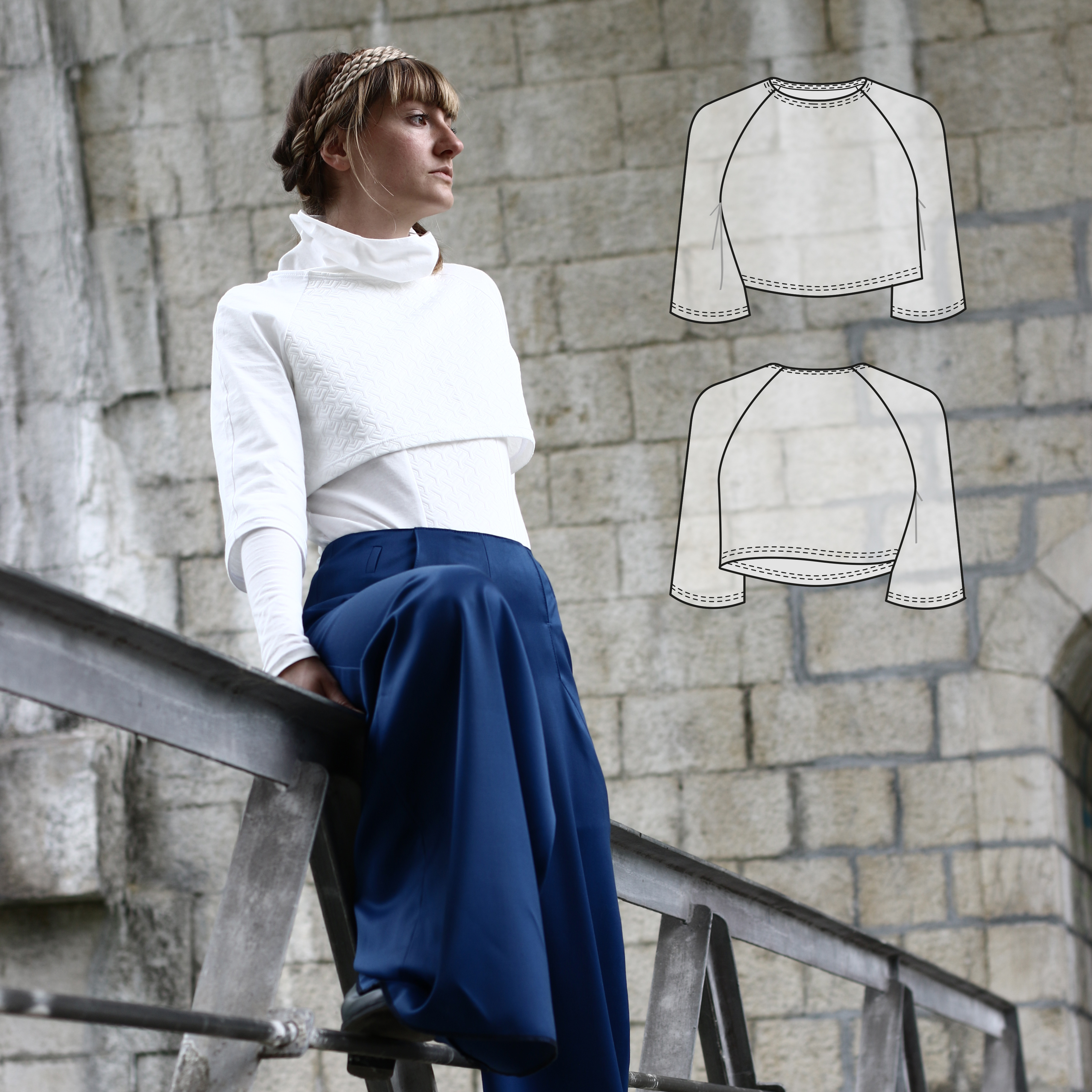 Nivis - crop top // Sewing pattern and step-by-step instructions by Wearologie