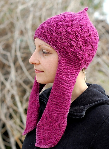 Flappy Cabler hat - knitting pattern