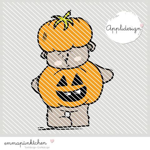 emmapünktchen ® - applikationsvorlage halloweenbär bei Makerist