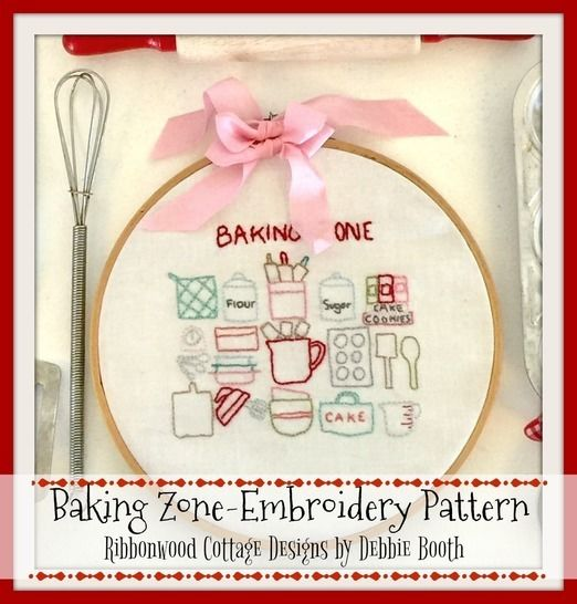 Baking Zone Embroidery Hoop Art Pattern 6 inch hoop at Makerist - Image 1