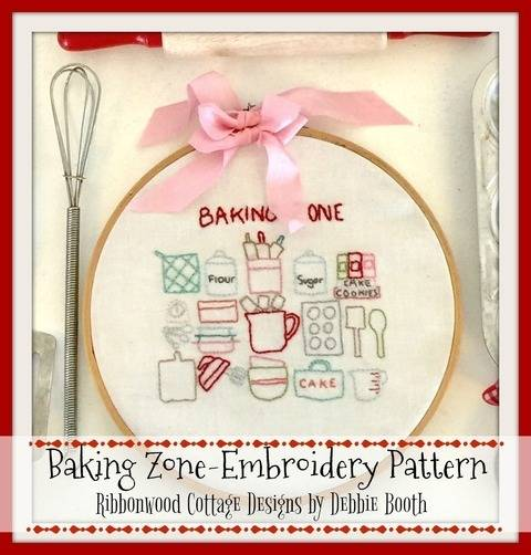 Baking Zone Embroidery Hoop Art Pattern 6 inch hoop at Makerist