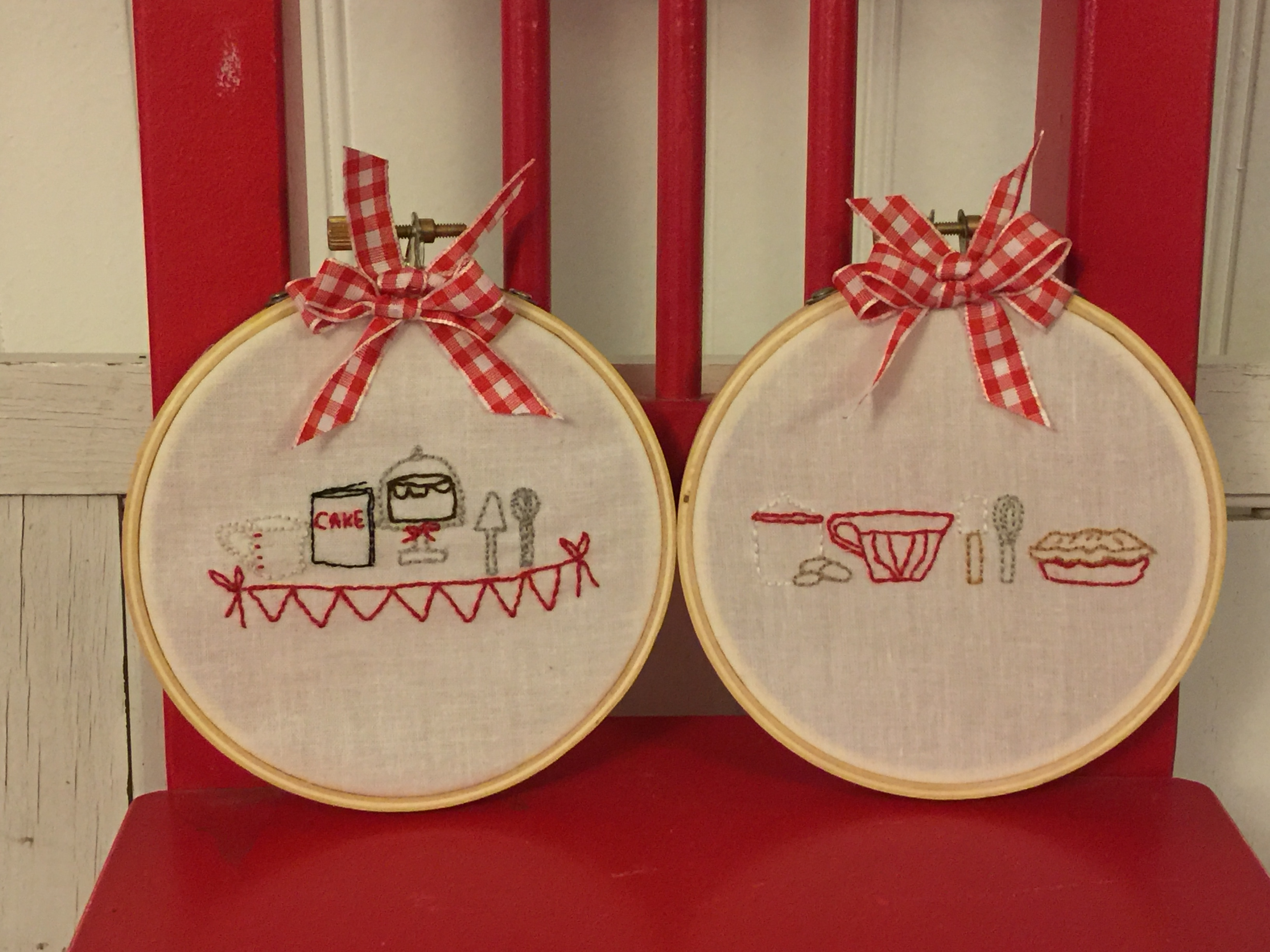 Embroidery pattern Baking Series  - 2nd part Mixing and Stirring  Hoop Art