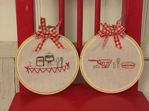 Embroidery pattern Baking Series  - 2nd part Mixing and Stirring  Hoop Art at Makerist