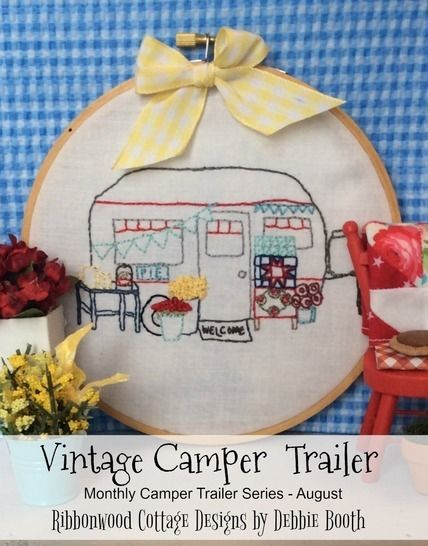 August Vintage Camper Trailer Embroidery Pattern at Makerist - Image 1