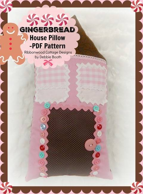 Gingerbread House Pillow at Makerist