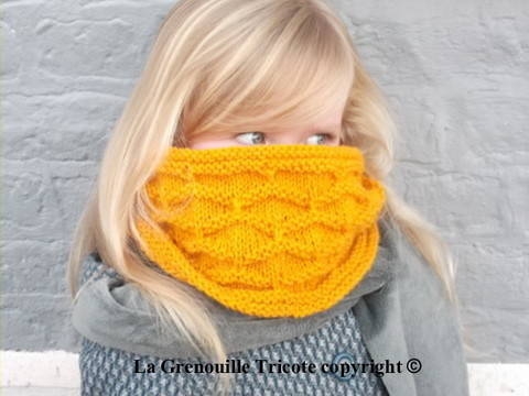 Snood Mirabelle chez Makerist