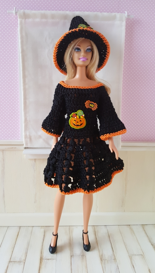 "Ensemble ""Miss Halloween"" - pour poupée Barbie (30cm)"