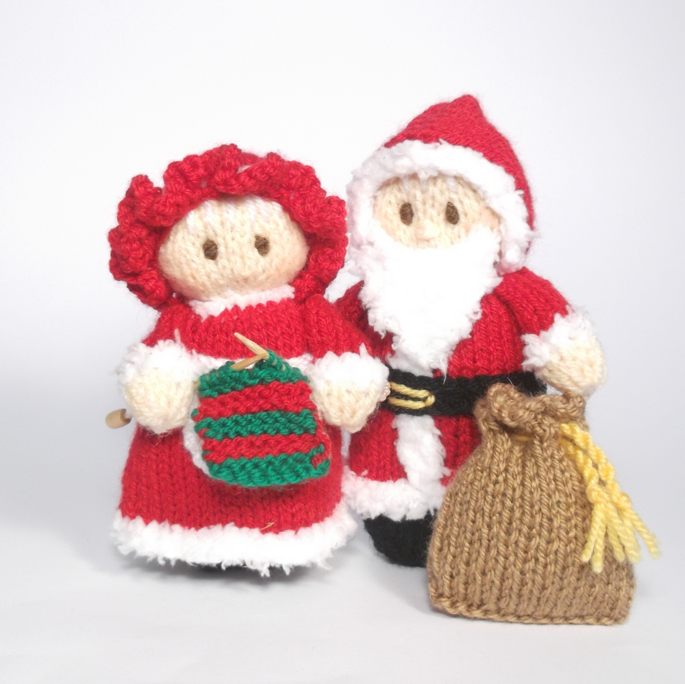 Santa and Mrs Claus Bitsy Dolls