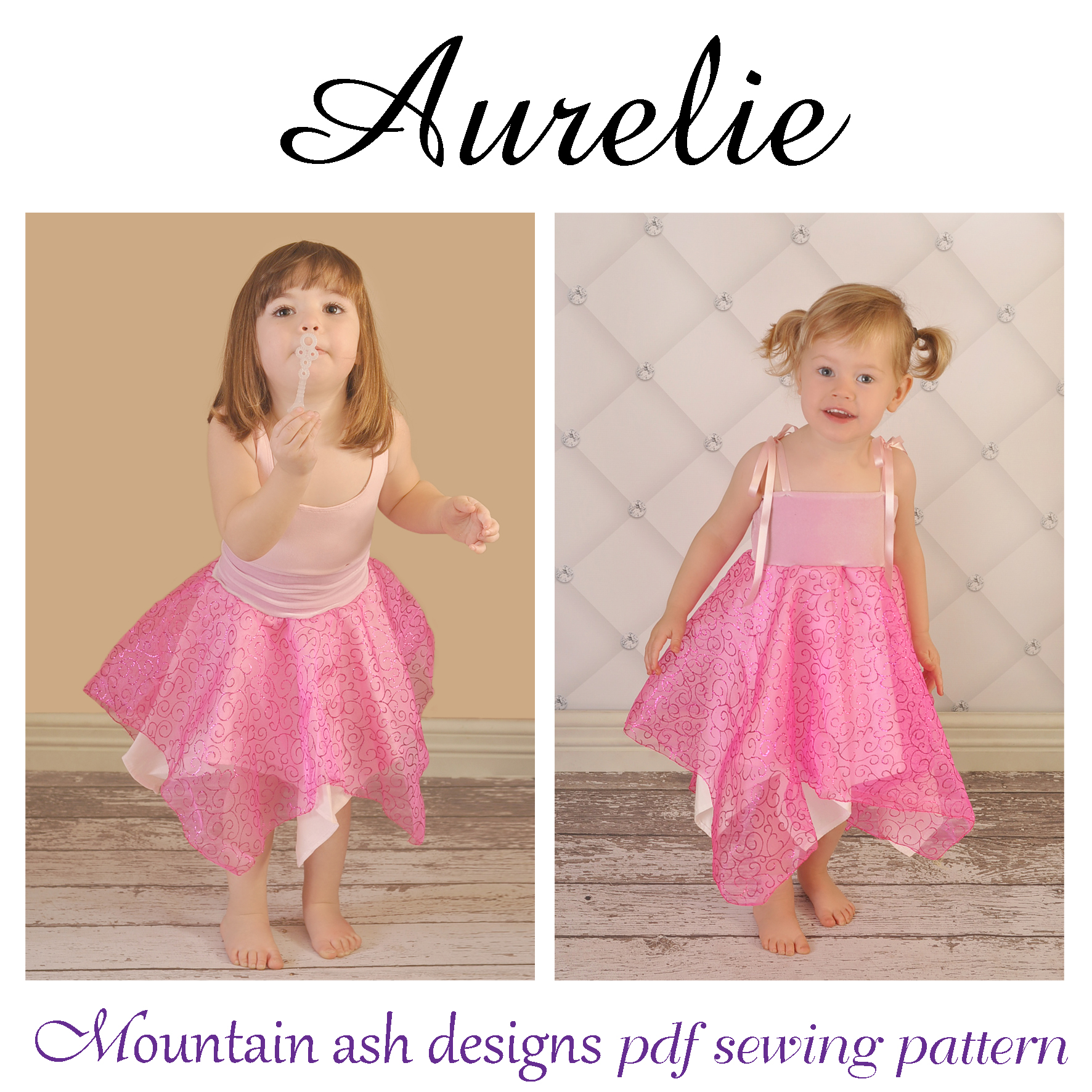 Aurelie Fairy Dress Sewing Pattern in Girls Sizes 1-10