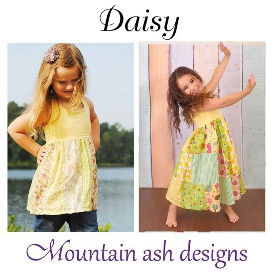 Daisy Halter Neck Patchwork Dress Sewing Pattern in Girls Sizes 1-10 at Makerist - Image 1