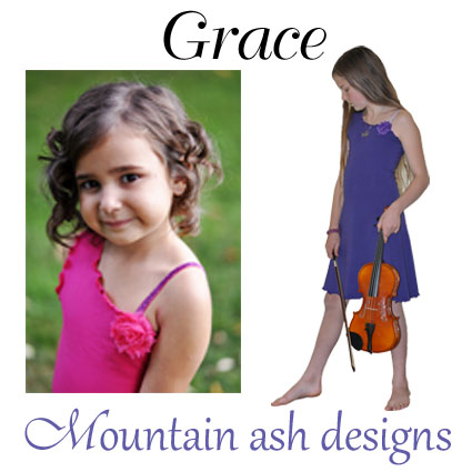 Grace Dress with Asymmetrical Neckline Sewing Pattern in Girls Sizes 2-14