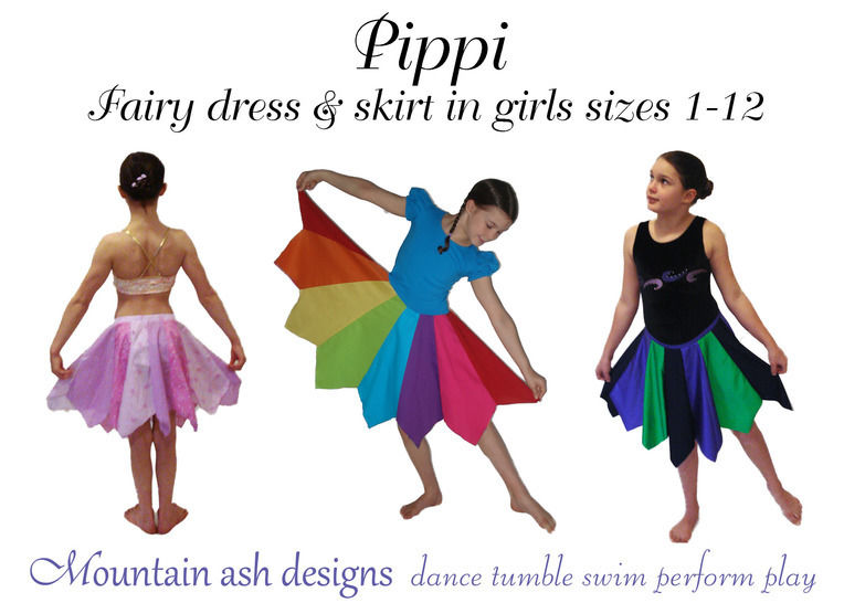 Pippi Pixie Dress and Skirt Sewing Pattern in Girls Sizes 1-12 at Makerist - Image 1