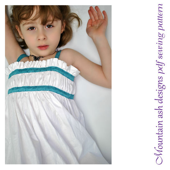 Sophia Sun Dress Sewing Pattern in Girls Sizes Newborn to 10 at Makerist - Image 1