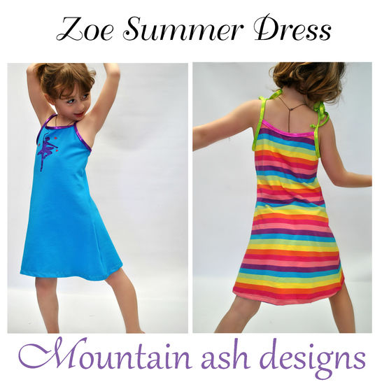 Zoe Summer Dress Sewing Pattern in Girls Sizes 2-14 at Makerist - Image 1