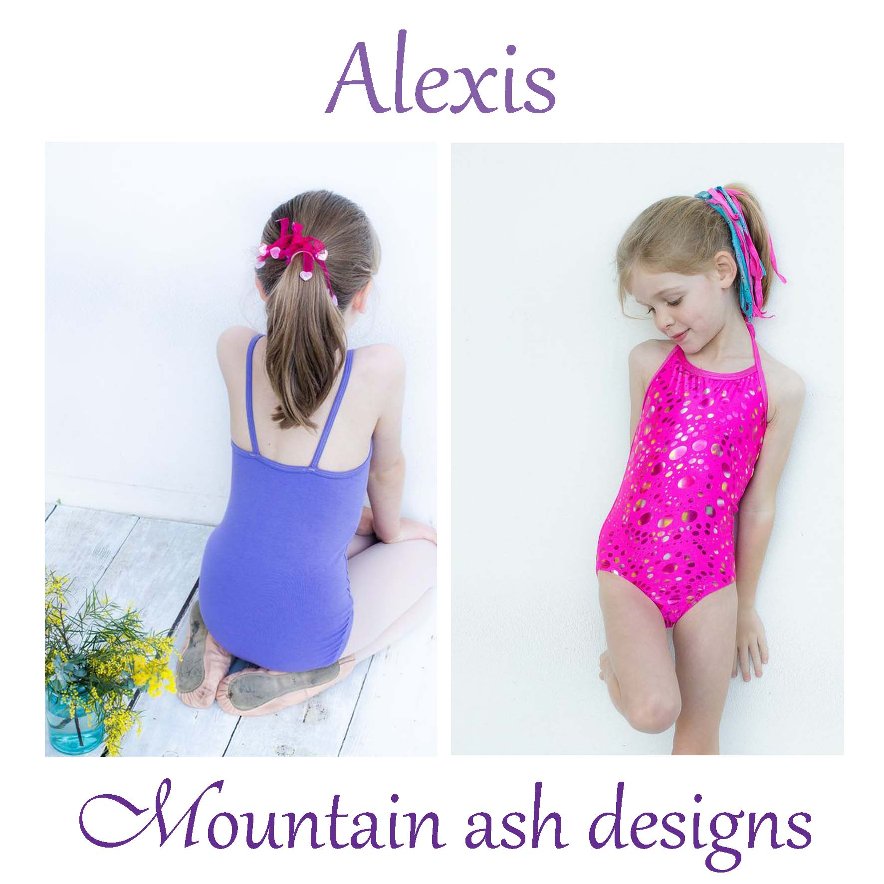 Alexis Swimsuit and Leotard Sewing Pattern in Girls Sizes 1-14