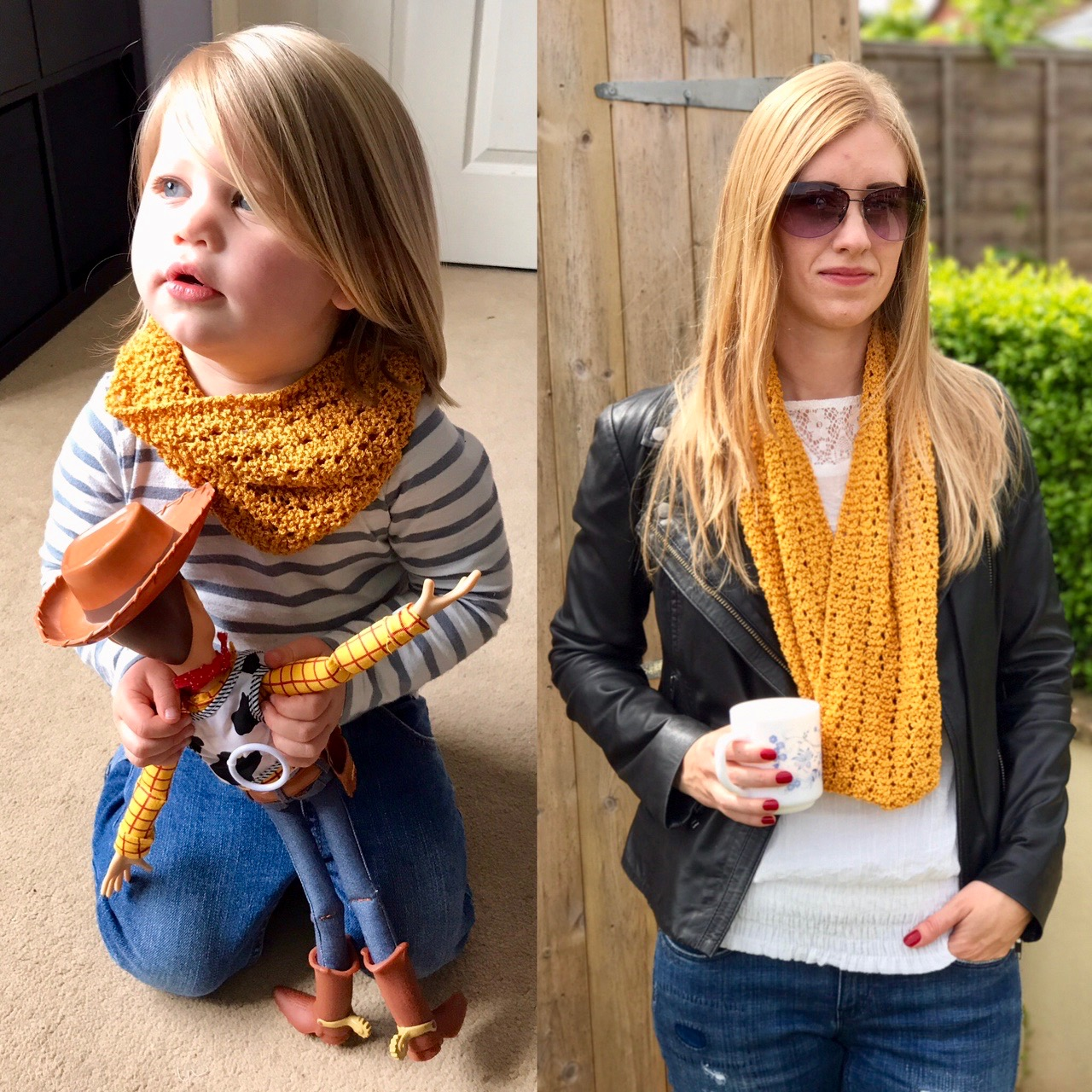 Mother and Daughter Lace Snood / Cowl / Infinity Scarf Knitting Pattern