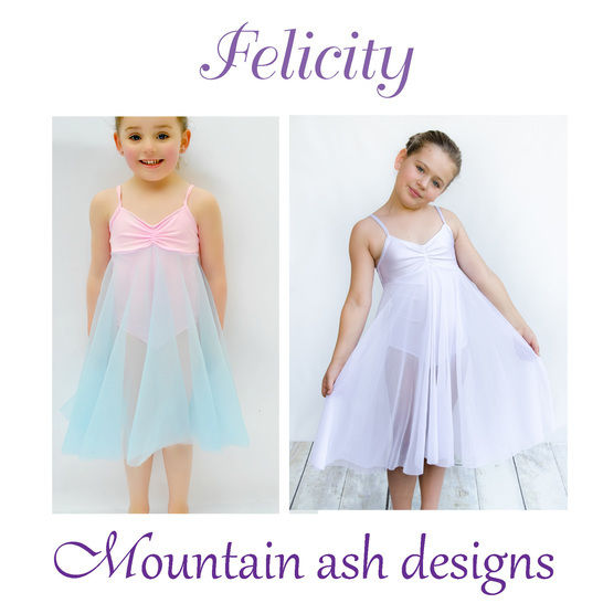 Felicity Dance Costume and Leotard in Girls Sizes 2-14 at Makerist - Image 1