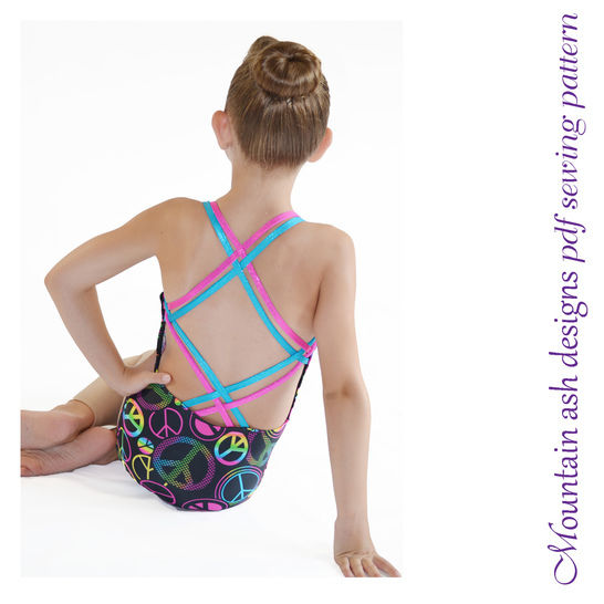 Georgia Strappy Back Swimsuit and Leotard Sewing Pattern in Girls Sizes 2-14 at Makerist - Image 1