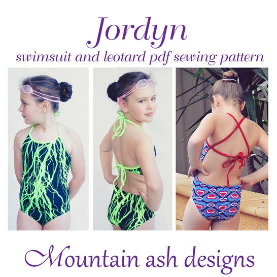 Jordyn Swimsuit and Leotard Sewing Pattern in Girls Sizes 2-14 at Makerist - Image 1