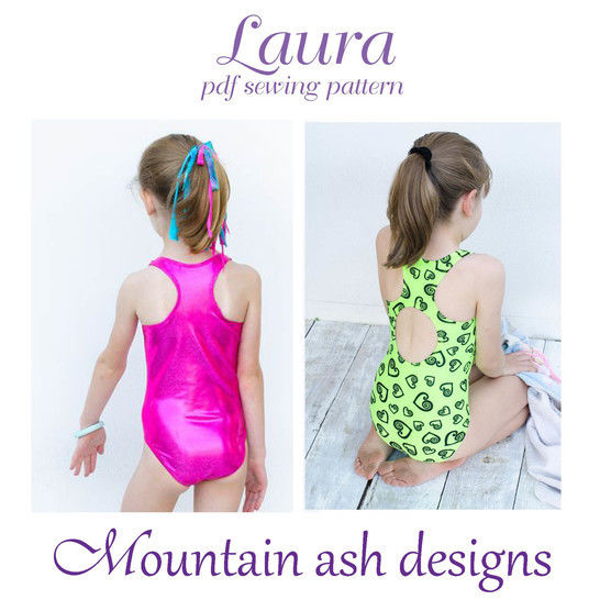 Laura Racer Back Swimsuit and Leotard Sewing Pattern in Girls Sizes 2-14 at Makerist - Image 1