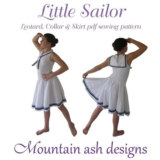 Little Sailor Dance Costume Sewing Pattern in Girls Sizes 2-14 at Makerist - Image 1