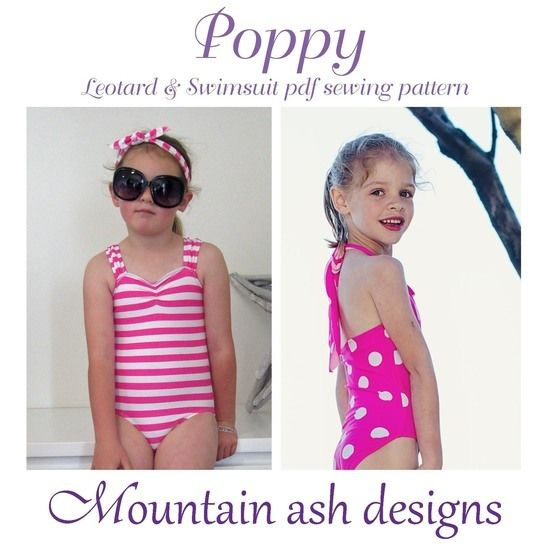 Poppy Swimsuit and Leotard Sewing Pattern in Girls Sizes 2-14 at Makerist - Image 1